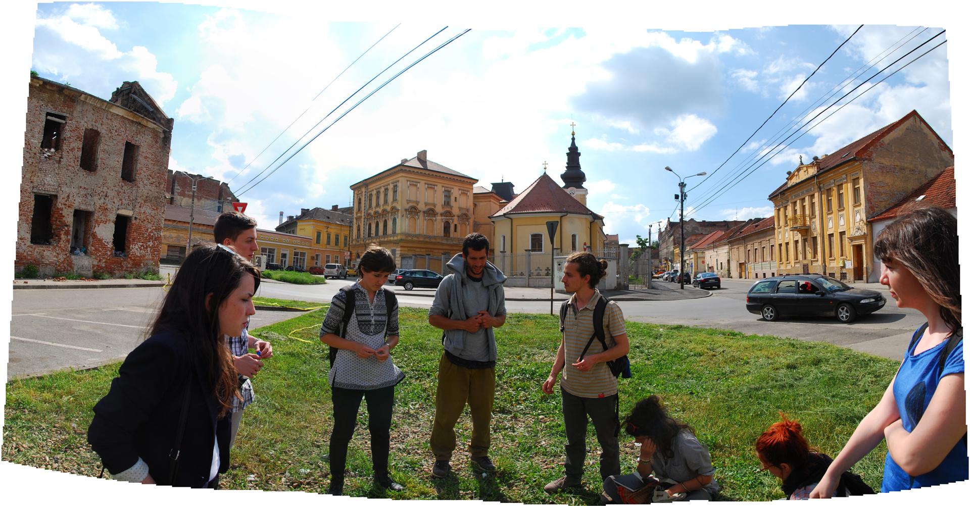 Първи оглед, няколко часа след пристигане в Тимишоара.